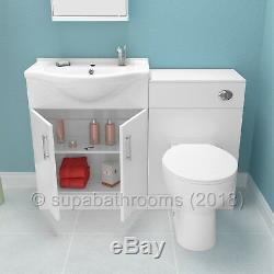 Salle De Bains Unité Vanity Furniture Suite 1150mm Basin Retour À Wall Wc Laura