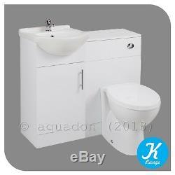 Salle De Bains Unité Vanity Kass 450 Basin Laura Dos Au Mur Et Toilettes Cistern Siège
