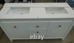 Salle De Bains Vanity Cabinet Double Twin Sink Bowl Bassin Marbre Style Pas Splash Back
