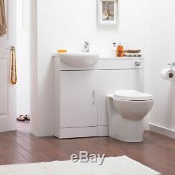 Sienna Bathroom Furniture Retour À Wc Mural Vanity Évier Bassin Placard Unité Blanc