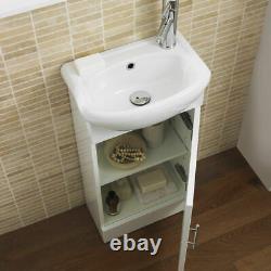 Sienna Meubles De Salle De Bains Retour À La Paroi Wc Vanity Basin Sink Armoire Unité Blanc