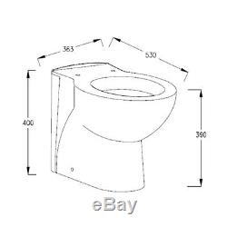 Sm Art Retour Au Mur Toilettes Pan Wc P Piège Pan Douce Fermer Slim Seat 390