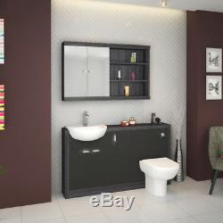 Suite De Salle De Bains De La Suite Traditionnelle Gris Argenté, Miroir De Lavabo En Option De 1 500 MM En Option