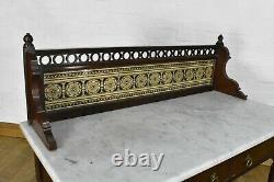 Table Antique Victorienne De Vanité De Lavabo De Marbre Victorien