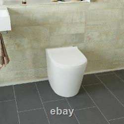 Trena Salle De Bains Rh Wc Bassin Évier Lavabo Unité Rimless Retour Au Mur Toilettes 1100mm