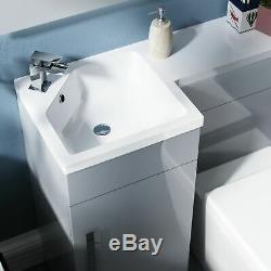 Unité 900mm Gris Clair Vanity Gauche Lavabo Et Wc Retour Au Mur Toilettes Ellis