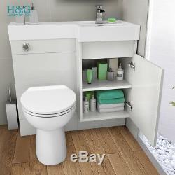 Unité Blanche Vanity Salle De Bains Et Toilettes Bassin Évier Retour Au Mur Armoire De Rangement 906r M