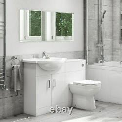 Unité De Combinaison De Vanité De Bassin Avec La Gamme Classique De Toilette De Dos Au Mur 550mm