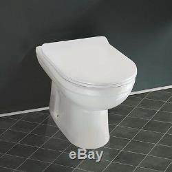 Unité De Vanité De Salle De Bains Cabinet D Forme Évier De Bassin Wc Unité Toilette Vers Le Mur