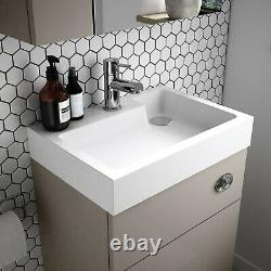Vasari Vista Stone Grey Back To Wall Btw Unit Toilet 500mm Évier De Bassin Citerne