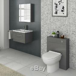 Veebath Lapis Grey Basin Vanity Retour Au Mur Btw Toilettes Bathroom Furniture