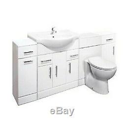 Veebath Linx Cabinet Vanity Basin Retour Au Mur Toilettes Unité Pan Cistern 2050mm