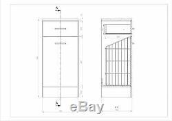Veebath Linx Vanity Basin Cabinet Dos Au Mur Toilettes Unité Pan Cistern 2250mm