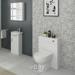 Veebath Linx Vanity Basin Unit Miroir Cabinet & Wc Retour Au Mur Toilettes Meubles