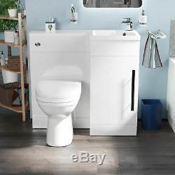 Welbourne 900 MM De Bain Bassin Blanc Évier Wc Unité Vanity Retour Au Mur Toilettes Rh