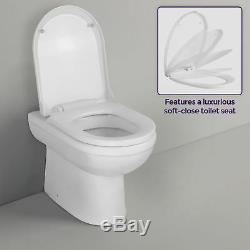 Welbourne Rh 1100 Salle De Bains Gris Meubles Bassin Vanity Unité Dos Au Mur Toilettes