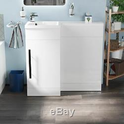Welbourne Salle De Bains Wc Bassin Évier Lavabo Blanc Unité Retour Au Mur Toilettes Lh