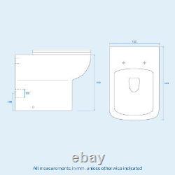 White Basin Sink Vanity Cabinet Et Back To Wall Toilet Wc Unit Suite Debra