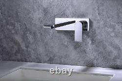 Zukki Cuivre Simple Poignée Accessoires De Salle De Bains Vanity Sink Robinet, Mur Monté